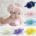 Baby Girl Toddler Elastic Chiffon Flower Headband Kids Pear Rose Hairband Hair