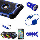 For iPod Touch 4 4G 4Th Gen Deluxe 3Piece Hard Case Cover Skin +Protector+Stylus