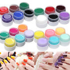 6 Colors Pure Solid Builder UV Gel Set Nail Art Shiny Cover Extension Manicure