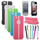 New Ultra-thin Rugged Folding Stand Case Shell Cover For iPhone 5 5S +Pen & Film
