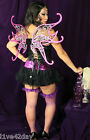Dark Fairy Amethyst Sparkle Wings Sexy Costume Halloween Gothic Burlesque Purple