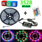 5M/10M/15M/20M 3528 SMD 300 LED LIGHT STRIP RGB Color Changing 12V UK SELLER