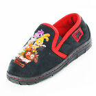 Boys Size 10 - 2 Black Red MOSHI MONSTERS Full Slippers NEW Rockin'