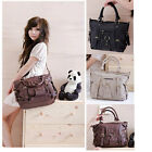 New Big Medium Purse Vintage Satchel Shoulder Handbag Women Crossbody Bag HoBo