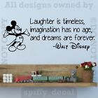 Kyпить Disney Mickey Laughter Imagination Dreams Forever Wall Quote Vinyl Wall Decal на еВаy.соm