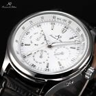 Ks Imperial Men's Automatic Mechanical Date Day Leather Sport Luxury Wrist Watch
