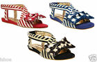 WOMENS IRREGULAR CHOICE JOLLY LOLLY NAUTICAL SUMMER SANDALS SHOES SIZE 2-10 NEW