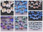 25pcs Charms Cowry Shell Shape Faceted Glass Crystal Findings Spacer Beads 20mm