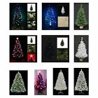 12 Battery or Mains Pre-Lighted/Unlighted, Fibre Optic 2 - 6.5ft Christmas Trees