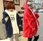 New thick cold Warm Hooded Fluffy Fleece Faux Fur Coat Poncho Jacket Two-sided