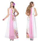 Ever Pretty Hot Halter Printed Ladies Long Evening Party Dresses Size 8-18 09836
