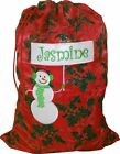 Personalised Christmas Sack - Snowman design - 2 sizes available- Any name.