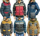 Mens Designer Rock & Revival Padded Jacket Puffer Hooded Bomber Parka Fur Coat