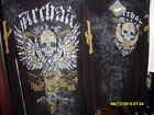 NEW Archaic by Afflication Men's L/S Thermal Pullover Black w/Skull & Crosses