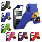 NEW STYLISH LEATHER FLIP TOP CASE COVER FOR APPLE IPHONE 4 4S & SCREEN PROTECTOR