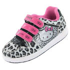 Girls SIZE 7 - 1 HELLO KITTY White Pink Velcro Trainers Shoes YORK Leopard
