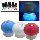 MINI AIR PURIFIER GLOBE COLOUR CHANGING LED LIGHT USB OR MAINS + 5 SCENTED OILS