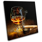 Cigar Cognac Brown Food Kitchen SINGLE CANVAS WALL ART Picture Print VA