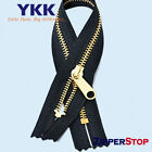 YKK #5 Brass Zipper HANDBAG Closed both end - Long Pull