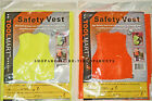SAFETY VEST – FRONT CLOSURE - FLUORESCENT YELLOW or ORANGE – ADULT ONE SIZE-NIP