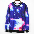 Women/Lady Galaxy/Space Sweatshirt Tie Dye Pullover Crew Neck Top Sweater Jumper