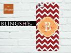 Monogram iPhone case red chevron customised for iPhone 4 4s 5 5s 5c mn-908