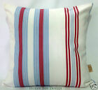 Clarke and Clarke Modern White Lulu Stripe cushion cover. 16 inch