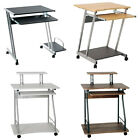 Wagen and Trolli Wheeled Metal Computer PC Desks Walnut/White/Black/Beech
