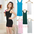 Candy Color Womens Waistcoat Skinny Vest Dress Sleeveless T-Shirt Long Tank Tops