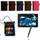 """WALLET SMART CASE COVER PU LEATHER FOR NEW AMAZON KINDLE FIRE HD 7"""" 2013 GEN."""