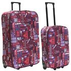 Extra Large Wheeled Cabin Flight Hand Travel Trolley Suitcase Luggage Case Bag