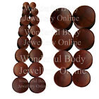 1 x Saba Wood Concave Double Flared Ear Plug Organic Saddle Style Tunnel Lobe