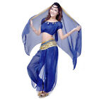 Elegant Belly Dance Costumes Suit Chiffon Short Sleeve Tops  Bloomers Pants set