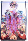 "New Silk Feeling Polyester Scarf Wrap ""Portrait Of  Beauty""  Art Painting 