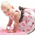Cotton Baby Girls Infant Toddlers Top Skirt Cake Bow Dresses Outfits Clothes LZL