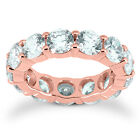 5.00CT Round REAL Diamond Eternity Ring 14K Rose Gold