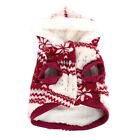 Dog Pet Coral Hoodie Winter Fleece Snowflake Print Dog Puppy Clothes Jacket Coat
