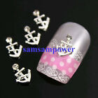 Various 12 Styles Gold Silver Plated 3D Metal Rhinestone Crystal Nail Art Decals
