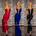 Sexy Slit Fishtail Cocktail Long Bridesmaid Maxi Gown Dress Prom Party UK 8-12