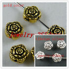120pcs Tibetan Silver/Gold Color Rose Spacer Beads 7x5mm A160 286