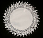 Lace doily with sunny ornament cream, white, wedding table decoration napkin