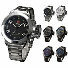 SHARK LED Digital Date Stainless Steel Army Quartz Men Sport Wrist Watch