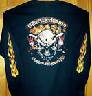 2014 DAYTONA BEACH BIKE Sweatshirt Sz Sm - 5XL  HOLE IN THE HEAD Flame Sleeves