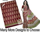 PREMIUM 100% COTTON SAREE SARI BRAND NEW ( Blouse Material Included)