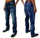 Mens New Designer DML Jeans Classic Regular Tapered Fit Trendy Retro Denim Clash