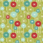 Wildwood - Circle Trees - Lime 100% Cotton, Fat Quarter Meters, Sew Quilt Crafts
