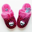 MONSTER HIGH Pink Cheetah Skullette Slippers NWT Sizes 11/12, 13/1, 2/3 or 4/5