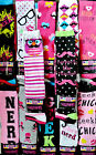 New 3 Pack/Pairs/Lot Womens/Juniors Knee High Socks-Nerd-Geek-Mustache-Skulls..
