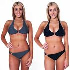 Womens Halter Neck Bikini with Silver Rings Top & Bottoms