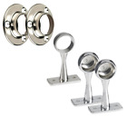 Chrome Wardrobe Rail Fittings Tube Clothes Hanging End Centre Brackets 19mm 25mm